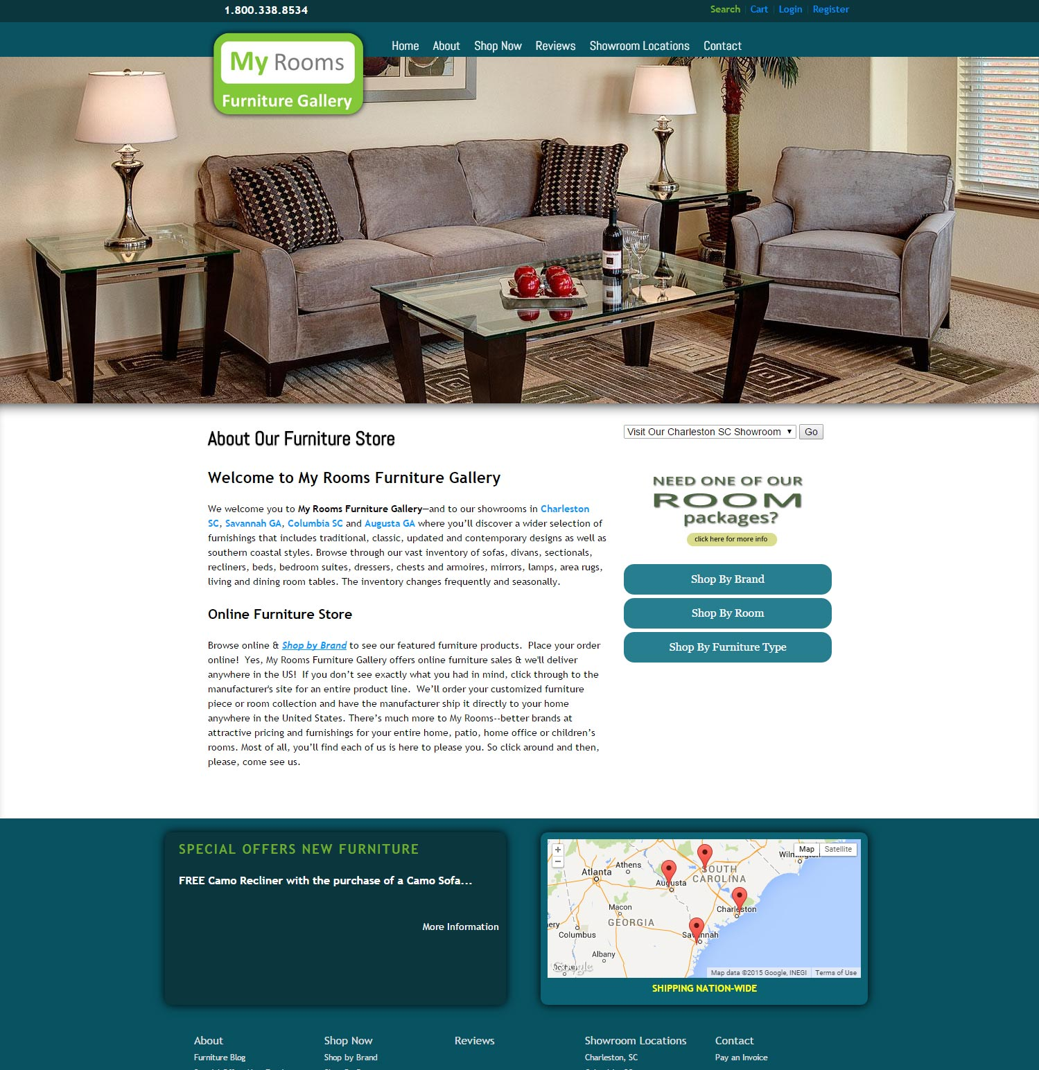 Secure Online Furniture Store Website Design And