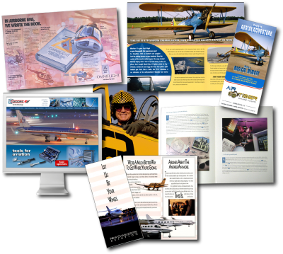 Aviation advertising and marketing experience